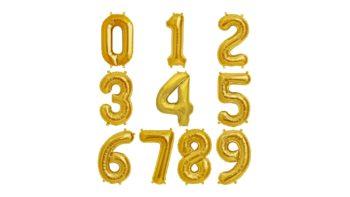Permalink zu:Zahlenballon in Gold – XXL 40″/102cm