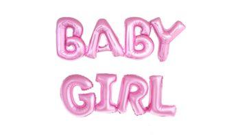 Permalink zu:BABY GIRL Schriftzug in Rosa