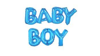 Permalink zu:BABY BOY Schriftzug in Blau